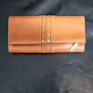 Michael Kors Leather Trifold Wallet & Check Book
